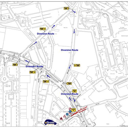 Road closures Leathley Road Leeds